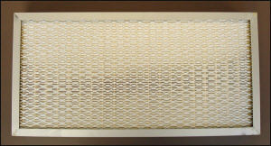 HEPA filter sealed with polyurethane adhesive