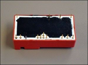 Epoxy potting compound used in miniature voltage regulator