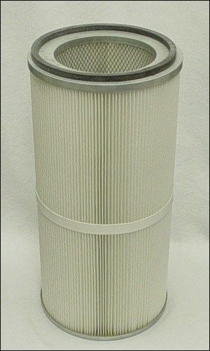 Rigid polyurethane used in a cartidge dust filter
